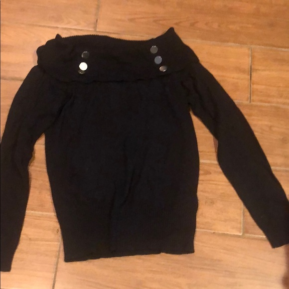 VENUS Sweaters - Black off the shoulder sweater